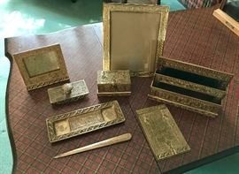 Tiffany Desk Set  - Gilt-Bronze