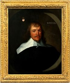 "2011 - ATT. TO GILBERT JACKSON (BRITISH, FL. 1622-1640), OIL ON CANVAS, H 28"", W 23"", PORTRAIT OF FRANCIS RUSSELL, 4TH EARL OF BEDFORD"
