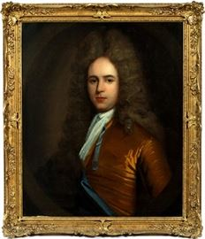 "2013 - ENGLISH SCHOOL OIL ON CANVAS, 18TH C., H 30"", W 25"", PORTRAIT OF A GENTLEMAN"