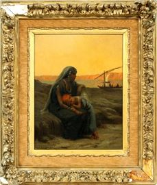 "2116 - FREDERICK ARTHUR BRIDGMAN (AMERICAN, 1847-1928), OIL ON CANVAS, H 18"", L 14"""