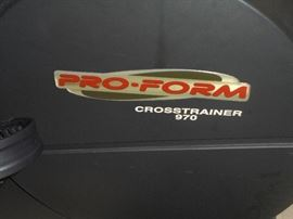 Pro-Form Cross trainer 970 w/ hand weights