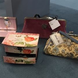 Sample of handbags, and jewelry boxes