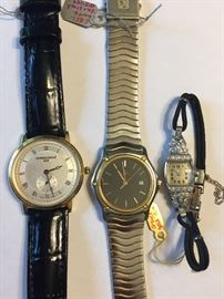 Frederick Constant, Ebel and Glycene watch