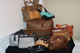 Gucci, Louis Vitton, Designer Purses and Luggage