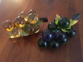 glass grapes ( your choice )