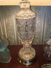 one of two matching pair of crystal lamps