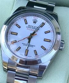 Rolex Milgauss 116400 Stainless Steel Automatic 40mm Mens Watch. BRAND NEW! NEVER WORN! BOX PAPERS! PERFECT! retail price is $8200 selling for $6900