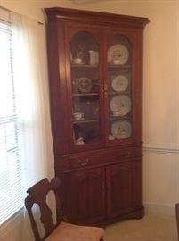 Vintage Wood Corner Cabinet $ 300.00