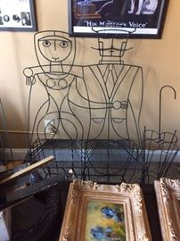 JOHN RISLEY WIRE BENCH