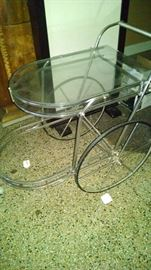 CHROME TEA CART