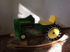 John Deere  rocking tractor