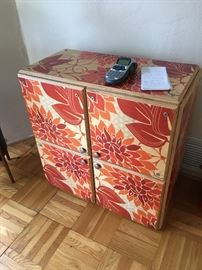 Painted cubicle cabinet.