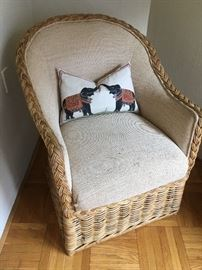 Wicker chair..