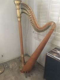 Lyon and Healy Harp fabulous with matching bench and music stand early 1900's $8,500 OBO