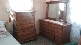 Maple matching dressers.  Incl. mirror top
