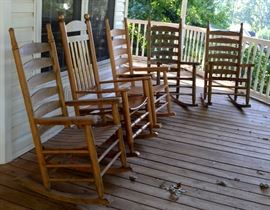 oak porch rockers