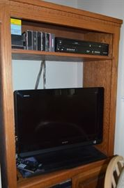 Sony TV; DVD player