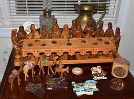 The Last Supper olive wood carving