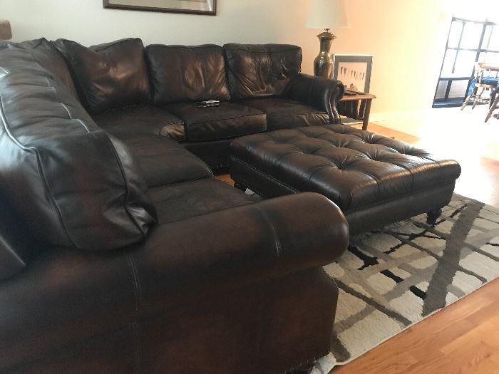 Buttery soft leather sectional