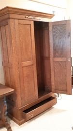 Antique Wardrobe with drawer