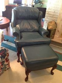 Leather Chair / Ottoman $ 300.00