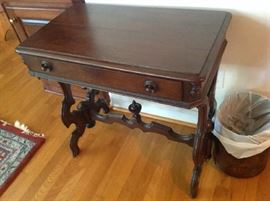Antique 1 Drawer Table $ 140.00