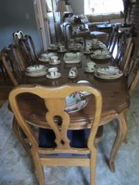 ETHAN ALLEN COUNTRY FRENCH DINING ROOM SET