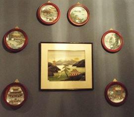 Asian art & plates