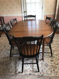 Hitchcock Table & 6 Chairs