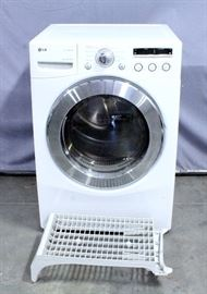 "LG True Steam Model DLEX2501W 27"" Electric Dryer, 7.3 Cu Ft Capacity, 9 Drying Programs, LED Display, Electronic Controls"