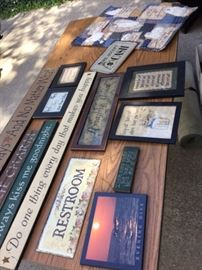 Beautiful wood signs