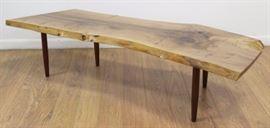 Lot 1138: George Nakashima Turned Leg Coffee Table