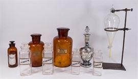 Lot 9: 8 Various Apothecary Jars