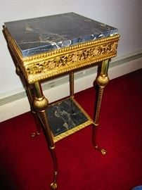 Marble & Brass French Stand