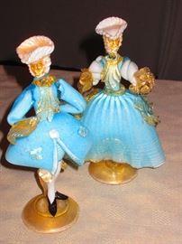 Pair of Murano Figures