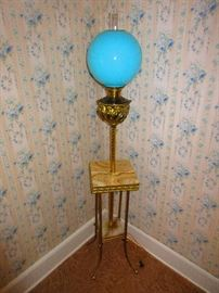 Victorian Brass & Agate Floor Lamp
