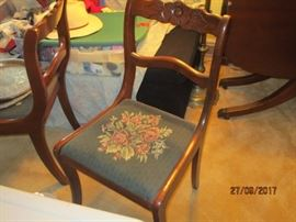 Vintage tapestry chair