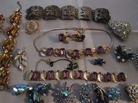 Vintage costume jewelry, Sterling Silver jewelry, and a wide assortment of costume jewelry, more than we have ever had in one home.