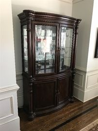 Gorgeous Bernhardt lighted China cabinet