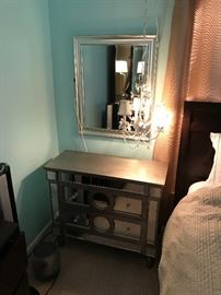 mirrored nightstand (it has some damage)