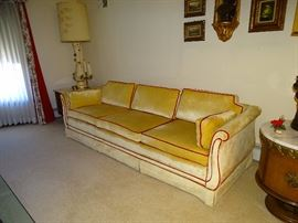 Velvet sofa and there is a matching love seat (pic coming soon)