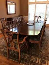 Banquet Size (with leaves) White Furniture Company Dining Room Table and 12 chairs
