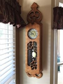 Unique oak clock