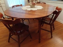 Tell City Maple table and four chairs