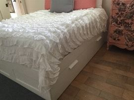 IKEA Double bed with four storage drawers