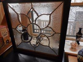 Vintage Leaded Glass Window(2)
