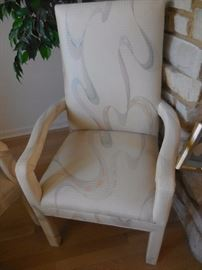 """Custom Made SILK (2) Arm chairs, Purchased from Robert Allan """"The Mart"""""""