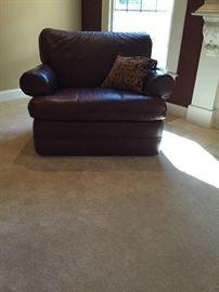 LAZBoy cordovan leather recliner