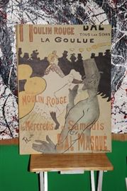 Original Toulouse-Lautrec Moulin Rouge Poster