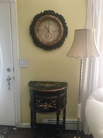 Small table & clock